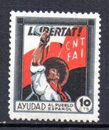 Viñeta Politica Nº 713/ 1870 CNT-FAI. Libertad.- - Verschlussmarken Bürgerkrieg