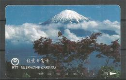 Mount FUJI, Telefon Card From Japan - Gebirgslandschaften