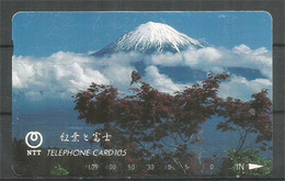 Mount FUJI, Telefon Card From Japan - Mountains