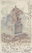 AK Festgruss Von Der Enthüllungsfeier In Hildesheim Am 15.10.1900 Gelaufen - Hildesheim