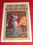"""MILITARIA - """"Take Up The Sword Of Justice"""" - Affiche De 1915 Pour Le Recrutement De Forces Armées En Angleterre - Patriotiques"""