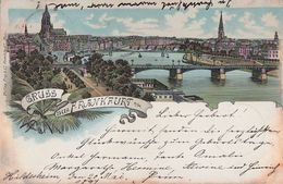 AK Gruss Aus Frankfurt A./M. Color Gelaufen 19.5.1897 - Frankfurt A. Main
