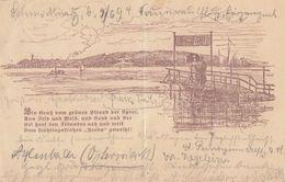 AK Ein Gruss Vom Grünen Strand Der Spree Gelaufen 11.6.1894 - Deutschland
