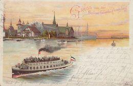 AK Gruss Von Der Berliner-Gewerbe-Ausstellung Color Gelaufen 5.6.1896 - Deutschland