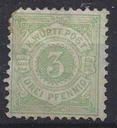 Germany (Wurttemberg) 1875 (*) MH Mi.44 - Wurttemberg