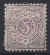 Germany (Wurttemberg) 1875 (*) MH Mi.45 - Wurttemberg