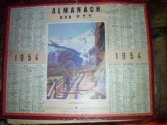 """Calendrier Almanach Des  Ptt """"contemplation""""  Annee 1954 Autentique  D' Epoque Paris - Calendriers"""
