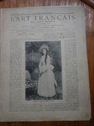 L Art Français  Revue Artistique Hebdomadaire Texte FJAVEL  Glyptographies SILVESTRE        N° 55 1888  Voir Photos - Art