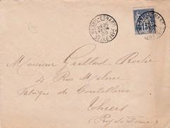 SEINE INFÉRIEURE  Cachet A MESNIL-ESNARD  Sur Type Sage , Boîte Rurale A - 1877-1920: Periodo Semi Moderno