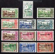 ININI 36/47** Et *  Timbres Taxes De Guyanne  Surchargés - Inini (1932-1947)