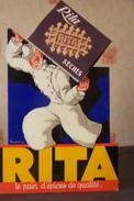 Publicité Cartonnée Pour Le Pain D'épices De Qualité RITA  Et Les Gaufres Sèches RITA - Targhe Di Cartone