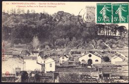 CPA - MONTBARD (21 - COTE D'OR) - QUARTIER DU CHAMP DE FOIRE, L'ABATTOIR, LE PARC ET LA TOUR DE L'AUBESPIN (N° 172) - Montbard