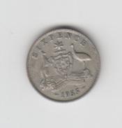 AUSTRALIA - SIX PENCE - 1955 - Monnaie Pré-décimale (1910-1965)