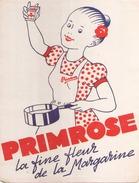 France Buvard Margarine Primrose ( Pliure ) 13,5 Cm X 18,5 Cm - Blotters