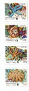 2001 British Indian Ocean Territory WWF Starfish Marine Life  Complete Set Of 4  MNH - British Indian Ocean Territory (BIOT)