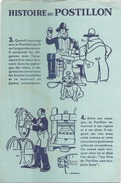France Buvard  Histoire Du Postillon ( Pliure, Déchirure, Auréole ) 21 Cm X 13,5 Cm - Blotters