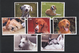 TOUVA TUVA 2001, CHIENS, 7 Valeurs, Neufs / Mint. CINDERELLA. R1807 - Touva