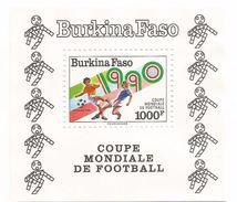 1990 Burkina Faso Worl;d Cup Football Italy  Complete Set Of 2 + Souvenir Sheet MNH - Burkina Faso (1984-...)