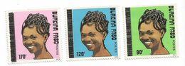 1990 Burkina Faso Women Hairstyles Complete Set Of 3  MNH - Burkina Faso (1984-...)
