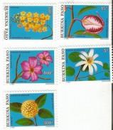 1991 Burkina Faso Flowers  Complete Set Of 5  MNH - Burkina Faso (1984-...)