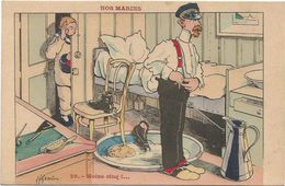 Z3828 Moins Cinq - Nos Marins - Humor Houmor - Illustrazione Illustration H. Gervese / Non Viaggiata - Gervese, H.