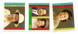 1986 Cameroun Cameroon QEII Birthday Royalty  Complete Set Of 3  MNH - Kameroen (1960-...)