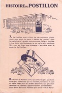 France Buvard  Histoire Du Postillon ( Pliure, Tache ) 21 Cm X 14 Cm - Blotters