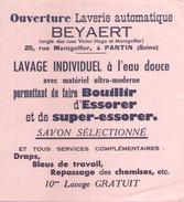 France Buvard Laverie Automatique Beyaert ( Pliure ) 15 Cm X 13,5 Cm - Buvards, Protège-cahiers Illustrés