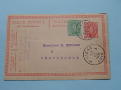 Briefkaart Paquay Angleur Liège > CHEVETOGNE () 1921 ( Zie Foto Details / Tekst ) !! - Staden