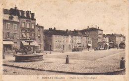 """1935    Boulay  """" Place De La  République  """" - Boulay Moselle"""