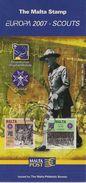 2007 Malta    Mi. 1514-5  FD-Karte  Europa Scout - Europa-CEPT