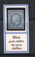 FRANCE- Y&T N°29A- Oblitération Petit Chiffre Des Gros Chiffre - 1863-1870 Napoléon III Lauré
