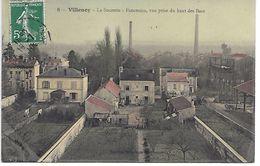 """77 VILLENOY CPA 1910 """"VUE AERIENNE DE LA SUCRERIE PRISE DU HAUT DES BACS"""" SUP  (COLORISéE) - Villenoy"""