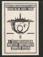 CPA Wien, Briefmarkenausstellung 1946, I. Österr. Arbeiter-Briefmarkensammler-Verein - Postzegels (afbeeldingen)