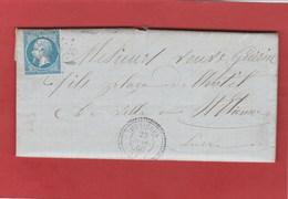 Haute-loire - Dunières - GC1363  CAD Type 22 - LAC De 1866 - Marcophilie (Lettres)