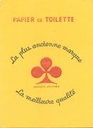 France Buvard Papier De Toilette ( Pliure ) 21,5 Cm X 15 Cm - P