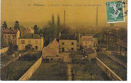 """77 VILLENOY CPA 1910 """"VUE AERIENNE DE LA SUCRERIE PRISE DU HAUT DES BACS"""" SUP  (COLORISéE ET TOILéE) - Villenoy"""