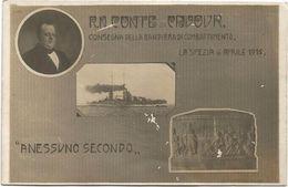Z3843 La Spezia 6 Aprile 1915 - Consegna Bandiera Di Combattimento Regia Nave Conte Di Cavour - A Nessuno Secondo - Guerra