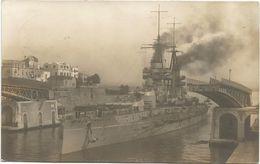 Z3845 Regia Nave Conte Di Cavour - Equipaggio Sull'attenti Al Primo Ingresso Nell'arsenale Di Taranto / Viaggiata 1915 - Guerra