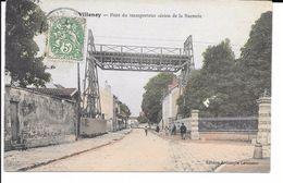 77 VILLENOY TRES BELLE CPA 190? LE TRANSPORTEUR AERIEN DE LA SUCRERIE (COLORISéE) - Villenoy