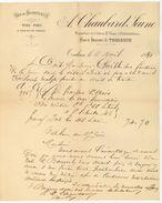 31 - Tarn-et-Garonne - Toulouse Facture 1891 Vins Spiritueux Eaux-de-vie Chaubard Jeune - Factures