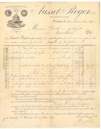 30 - Gard - Nîmes Facture 1896 Ausset-Roger Et Cie Propriétaire Viticulteur - Factures