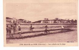 Graye Sur Mer - Les Enfants Sur La Plage - France
