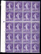 FRANCE - YT N° 142b Bloc De 20 - Neufs ** - MNH - Cote: 1740,00 €- Lire Descriptif - - France