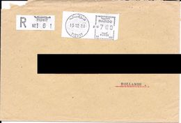 Lettre Recommandée De Tiznit Pour Les Pays Bas Avec Vignette De Guichet Noire. (Voir Commentaires) - Maroc (1956-...)