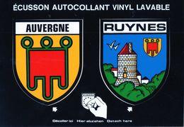 Thèmes > Non Classés  Adhésif Auvergne RUYNES - Cartes Postales