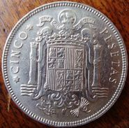 Espanha - 5 Pesetas - 1949(50) - KM 778 - [5] 1949-…: Monarchie
