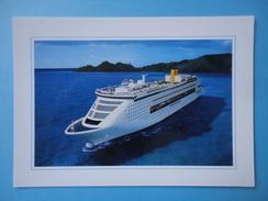 Costa Victoria - Cartolina Promo - Barche