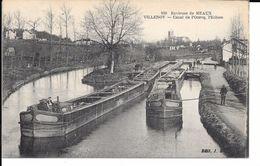 """77 VILLENOY TRES BELLE CPA 1920 """"LES éCLUSES"""" (PéNICHES) - Hausboote"""