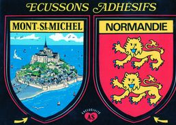 Thèmes > Non Classés  Adhésif Normandie Mont St Michel - Cartoline